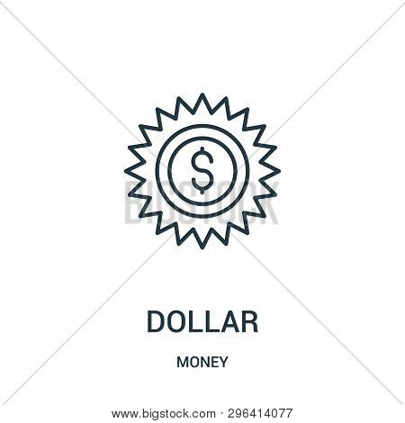Dollar Icon Isolated On White Background From Money Collection. Dollar Icon Trendy And Modern Dollar