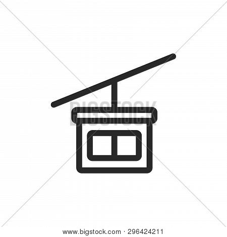 Cable Car Cabin Icon Isolated On White Background. Cable Car Cabin Icon In Trendy Design Style. Cabl