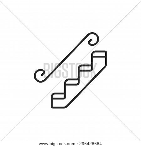 Stairs Icon Isolated On White Background. Stairs Icon In Trendy Design Style. Stairs Vector Icon Mod