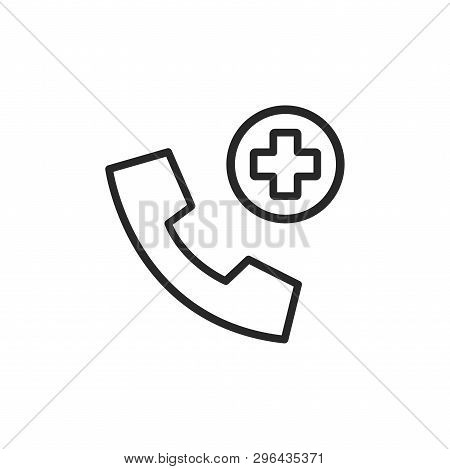 Emergency Call Icon Isolated On White Background. Emergency Call Icon In Trendy Design Style. Emerge