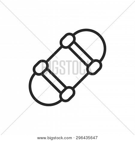 Skateboard Icon Isolated On White Background. Skateboard Icon In Trendy Design Style. Skateboard Vec