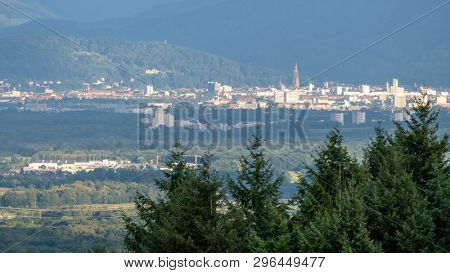 An image of Freiburg Germany in the distance