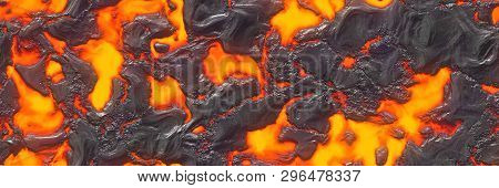 Seamless Magma- Large File. Destroy Molten- Fluid Metal