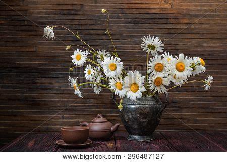 Flower Bouquet- Still Life Decorative. Table Aged- Floral Art