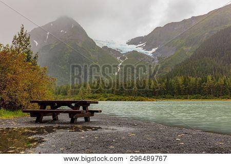 The Scenic Landscape Of The Kenai Peninsula Alaska In Early Autumn