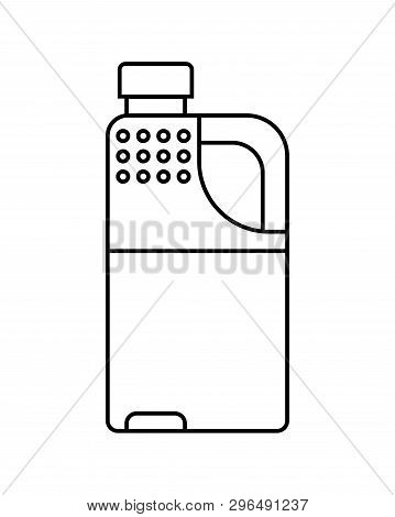 Container, Canister For Oil Or Gasoline. Flat Icon, Linear Object. Cut Out Illustration.