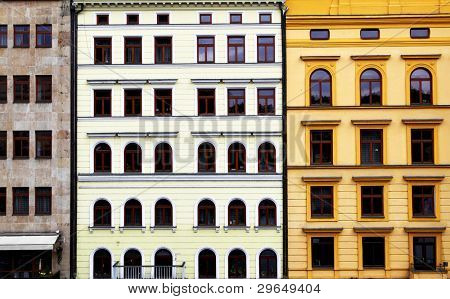 Old colorful buildiugs at Prague, Czech Republic poster