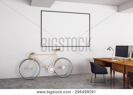 Modern Office With Poster