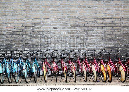BEIJING - JUNE 3: Rent for bicycle parking lot,  June 3, 2010 in Beijing, China.  In Beijing near are ten million bicycles.