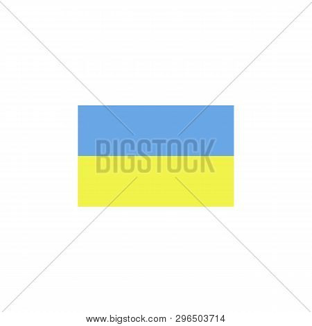 Flag Of Ukraine Colored Icon. Elements Of Flags Illustration Icon. Signs And Symbols Can Be Used For