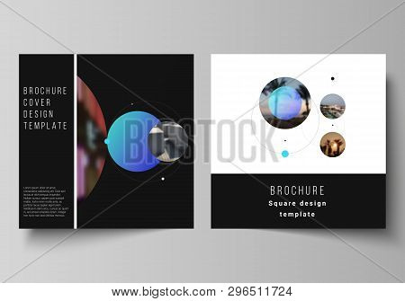 Vector Layout Of Two Square Format Covers Design Templates For Brochure, Flyer, Magazine.simple Desi