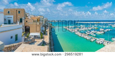 Panoramic View Of Otranto Town And Harbor, Province Of Lecce, Puglia (apulia), Italy