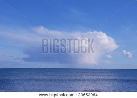 Cumulus cloud over the sea, Ireland