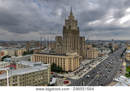 Main building of Ministry of Foreign Affairs of Russia in Moscow, Russia poster