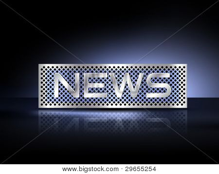 News text metal plate - business background