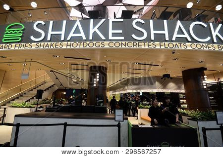 Singapore, 11 Apr, 2019:  Famous New York Burger Chain Shake Shack Has Opened Its First Outlet In Si