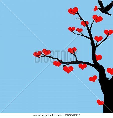 Tree of Hearts Valentine.eps