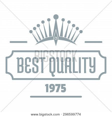 Best Quality Logo. Simple Illustration Of Best Quality Logo For Web