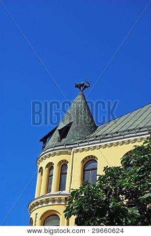 Cat House in old Riga, Latvia