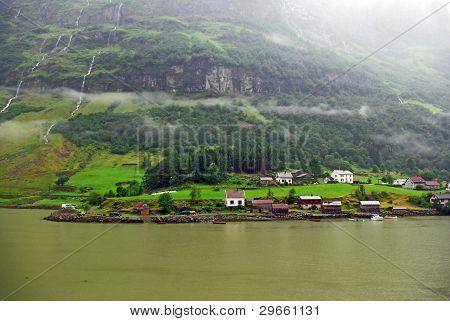 View of the norwegian fjord coast