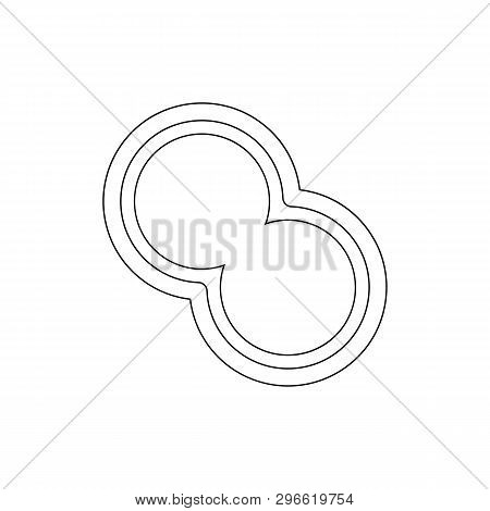 Bacterium Outline Icon. Element Of Virus Icon. Premium Quality Graphic Design Icon. Signs And Symbol