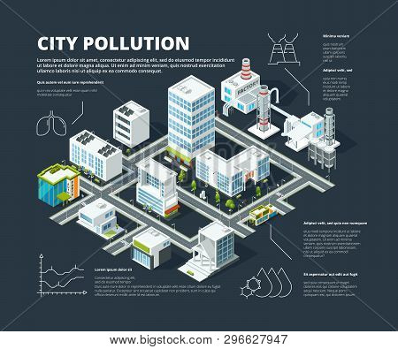 Urban Infographic. Business Concept People Population Megapolis Transportation Buildings Street Isom