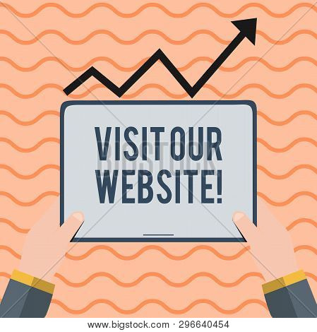Word Writing Text Visit Our Website. Business Concept For Visitor Who Arrives At Web Site And Procee