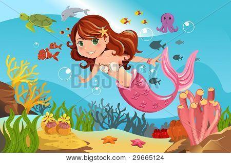 Mermaid In Ocean