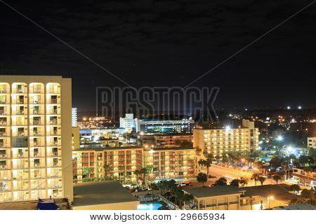 View of Daytona, Florida at night
