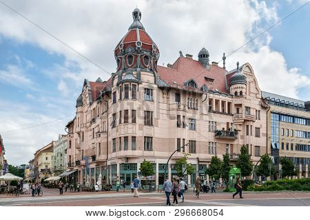 Szeged, Hungary, June 28: Citizens And Guests Of The City Walk Along The Main Street Of The City Nea
