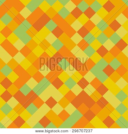 Seamless colorful repetitive pattern with yellow pixel squares. Vector illustration for your graphic design. poster