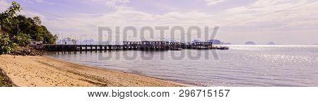Panorama View Of Pier At Ko Yao Noi, Phang Nga Province, Thailand