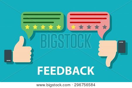 Feedback Concept Design. Agree Or Like, Disagree Or Dislike Feedback Concept. Customer Review, Usabi