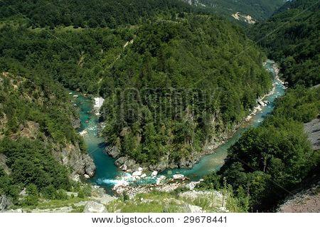 Tara canyon in Montenegro