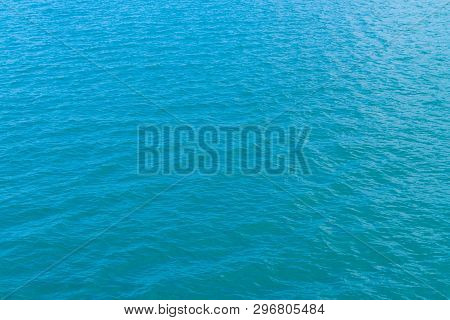 Abstract Blue Water In The Sea Water Background Texture