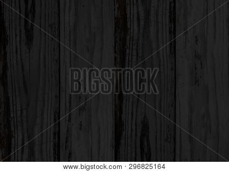 Black Wood Texture Backdrop Background With Woodgrain Pattern