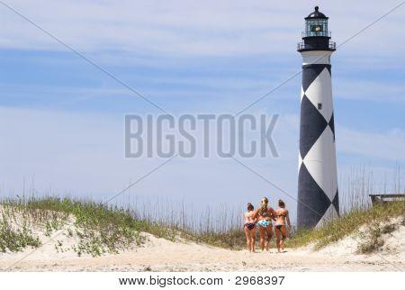 Girls At A Lighthouse