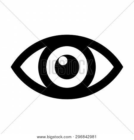 Eye Icon, Eye Icon Image, Eye Icon Vector In Modern Flat Style For Web, Graphic And Mobile Design. E