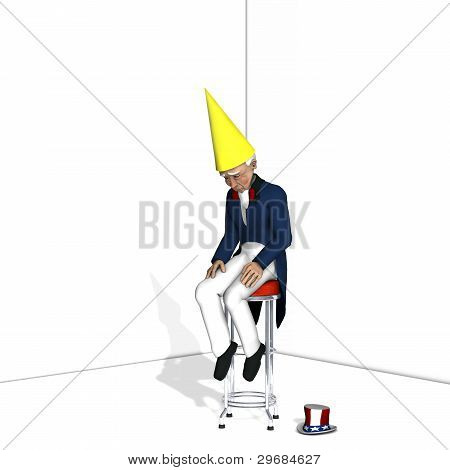 Uncle Sam Dunce 1