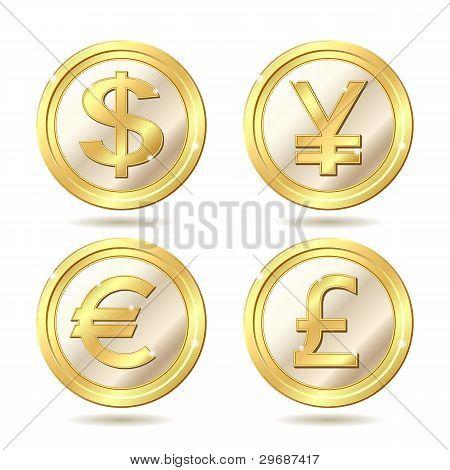 Set of golden coin