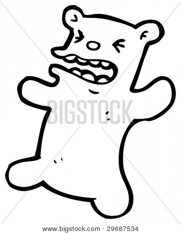 angry bear cartoon (raster version) poster
