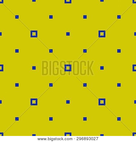 Simple Minimalist Geometric Seamless Pattern With Small Squares, Dots, Pixels. Vector Abstract Backg