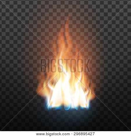 Animation Stage Of Decorative Fire Flame Vector. Abstract Flammable Wildfire, Burning Blaze With Tra