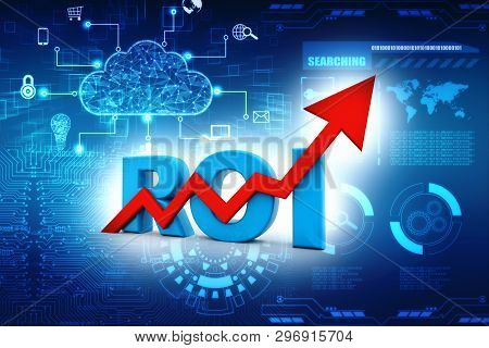 Roi Concept. Return On Investment. Roi Business Marketing. Profit Income