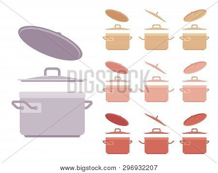 Saucepan Set, Kitchen Appliance. Saucepot For Stewing Or Boiling Food, Cooking Pot, Deep Utensil Wit
