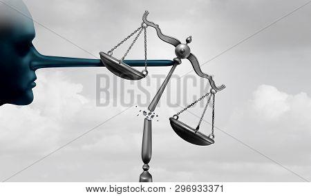 Criminal Politicians And Corrupt Politics Concept As A Political Lier With A Long Lying Nose As Gove