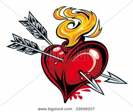 Heart With Two Arrows