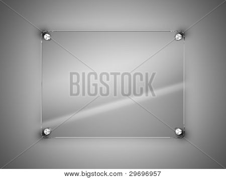 Glass frame on the wall