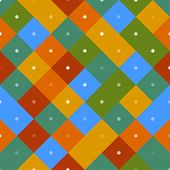 70s seamless colorful repetitive pattern with pixel squares. Vector illustration for your graphic design. poster