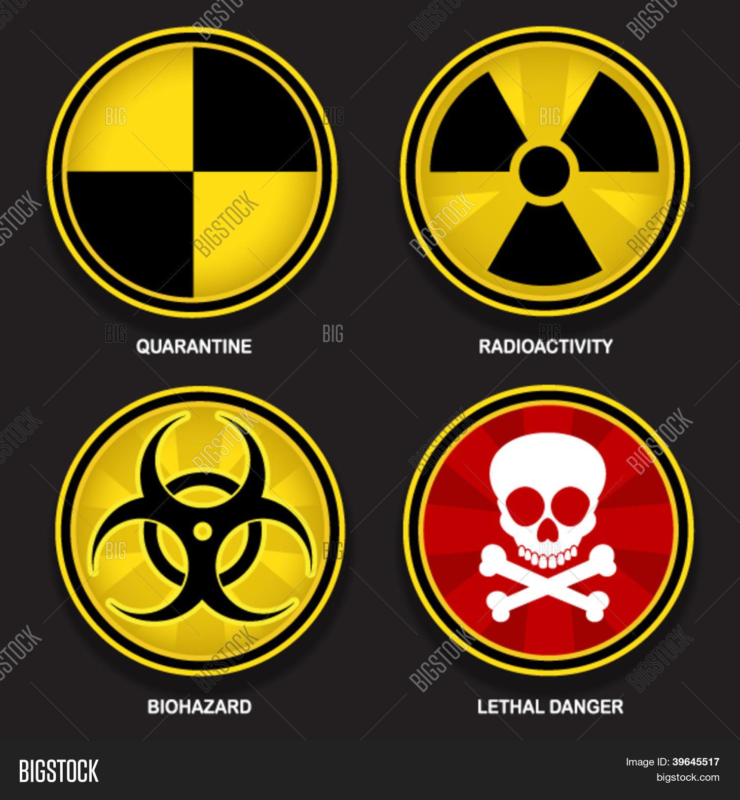 Hazard Symbols Vector Photo Free Trial Bigstock